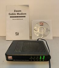 Zoom Series 1051 USB/Ethernet Cable Modem #5241 w/ A/C Power Supply & Install CD