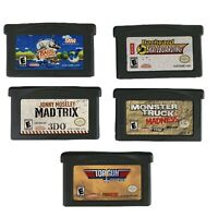 Nintendo Gameboy Advance Game Lot Of 5: Bass Fishing, Mad Trix, Top Gun, & More
