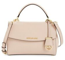 NWT MICHAEL KORS Ava Small Top Handle Leather Satchel Bag BALLET PINK $268 AUTH