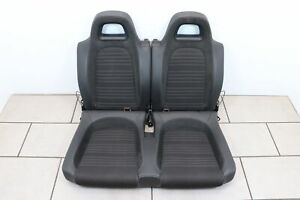Bench Back Seat Bench Rear Seat VW Scirocco 13 Black Fabric Leather