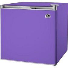 Small Refrigerator for Dorm 1.6 cu Purple Mini Igloo Fridge Compact Freezer Home