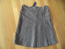 WITCHERY CHOCOLATE WOOL TWEED SKIRT SIZE 12 BRAND NEW WITH TAGS RRP $129.95