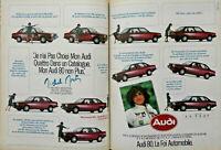 PUBLICITÉ DE PRESSE 1981 AUDI 80 QUATTRO V.A.G LE RESEAU VOLKSWAGEN