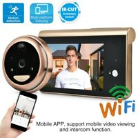"4,3/"" 720P LCD WIFI Video Digital Türspion /& Türklingel 166° IR Nachtsicht Kamera"