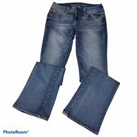 American Eagle Womens Super Stretch Kick Boot Cut Jean Size 2 Medium Wash AEO
