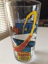 Very Rare Fantastic Four + Fantasticar Kirby Toon Tumbler 2009 Glass Marvel Oop