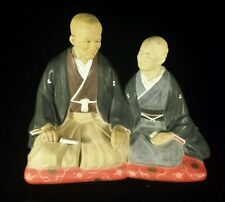Vintage Japanese Ceramic Hakata Urasaki Dolls Figurine Love Man & Woman Kneeling