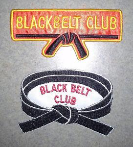 NEW! Black Belt Club Martial Arts Patches - Choose Patch style - Jiu Jitsu UFC