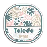 2 x 10cm Toledo Spain Leaf Vinyl Stickers - Travel Sticker Laptop Luggage #23249