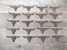 50 Drawer Pulls Handles Cast Iron Rustic Longhorn Texas Bathroom STEER SKULL