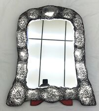 1901 EDWARDIAN ENGLISH STERLING LARGE DRESSING TABLE MIRROR   FINE