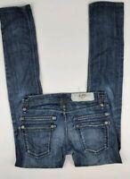 Jimmy Taverniti So Birkin 13 Dark Wash Straight Leg Women's Blue Jeans Size 26