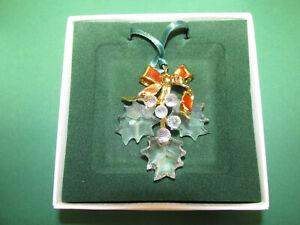 Swarovski Figur Crystal Christmas Memories Gold Ornaments Holly 203080 OVP