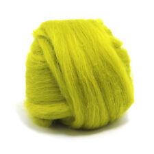 100g Laine de Mérinos Tops 64 de fibres teintes-or-Feutre making et filature