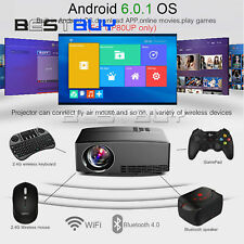 Multimedia 4K WiFi Android Bluetooth 3D LED Projector Home Cinema 10000LM BBC