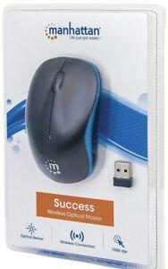 MANHATTAN(R) 179416 Manhattan(R) Success Wireless Optical Mouse (Blue/Black)