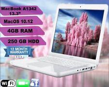 """Apple MacBook A1342, 13.3"""" macOS 10.12, Sierra - 2.26 GHz - 4GB RAM - 250GB HDD"""