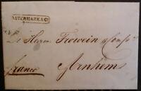 1852 Netherlands Entire Amsterdam to Arnhem Utermark & Co
