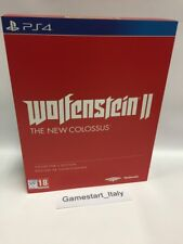 WOLFENSTEIN 2 II THE NEW COLOSSUS COLLECTOR'S EDITION - PS4 - NUOVO NEW PAL