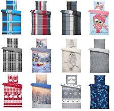 Thermofleece Bettwäsche 4 teilige / 2 teilige Flausch Garnitur Winter Bettbezüge