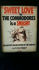 The Commodores Sweet Love Rare Original Promo Poster Ad Framed!