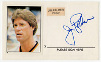 Jim Palmer signed autographed vintage index card! RARE! Guaranteed Authentic!