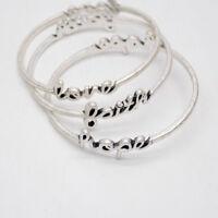 Premier Designs jewelry FAITH LOVE HOPE silver plated bangle women bracelet