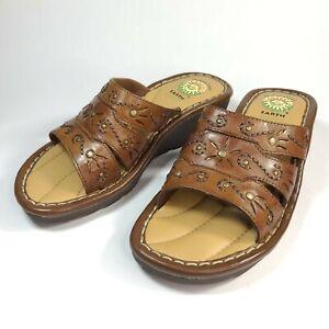 Earth Spirit Gelron 2000 Size 6 1/2 Brown Women's Sandal Shoes