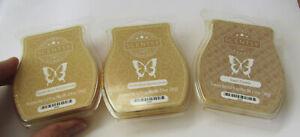 3 Scentsy wax bars 3.2 fl oz, brand new, 8 cubes ea, 2 vanilla b, 1 sugar cookie