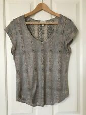 Linen Casual Striped Tops for Women