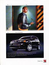 2004 Saturn VUE RedLine Original Advertisement Print Car Ad J531