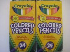 NEW SEALED 24 Nontoxic Crayola Colored Pencils **2 PACKS = 48 PENCILS** #68-4024