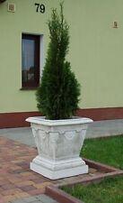 Pflanzkasten, Pflanztrog, 53 cm Gartendeko, Steinguss, Blumenschale, Palmenkübel