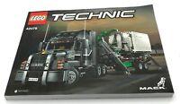 Lego New Mack Anthem INSTRUCTIONS ONLY Manuel Booklet