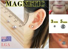 Earring Jewellery Magnetic 3mm 5mm Fake Ear Stud Nose Lip Ring FREE POST  B