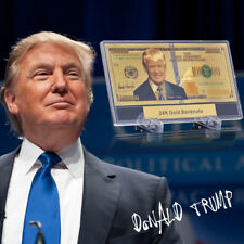 WR Donald Trump $1 Million Gold Foil Banknote In Display Stand US President Gift