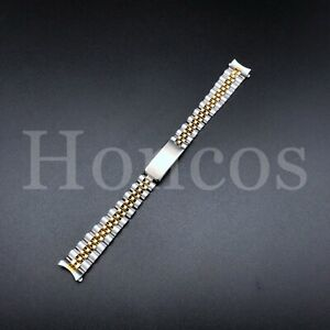 JUBILEE WATCH BAND STEEL AND GOLD  BRACELET LADY FOR 26MM ROLEX WATCH 13MM LUG