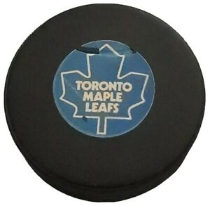 PLEASE READ! TORONTO MAPLE LEAFS NHL VINTAGE APPROVED GAME PUCK VICEROY MFG 🇨🇦