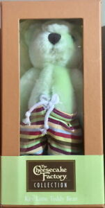 The Cheesecake Factory Collection 2005 KEY LIME TEDDY BEAR Posable Plush in Box!