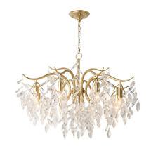Modern Gold Metal Crystal Chandelier Luxury Living Room Pendant Lamp Art Light