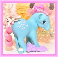 ❤️My Little Pony MLP G1 VTG Bow Tie Blue Pink Curly Hair Original BRUSH❤️