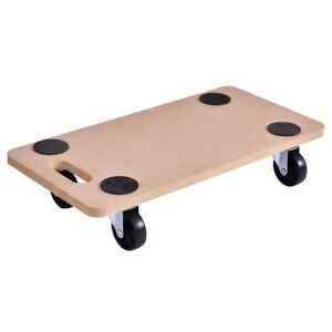 200KG Dolly Cart Trolley Wooden Wheeled Moving Platform with 4 Castors Barrow
