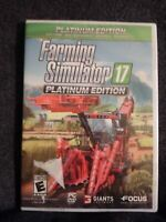 NEW Farming Simulator 17 Platinum Edition - PC Game - Sealed A7