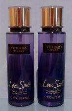 VICTORIA'S SECRET LOVE SPELL FRAGRANCE MIST BODY SPRAY 8.4 FL.OZ LOT 2 NEW