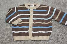 Carters Baby Boys Bear Striped Cardigan Sweater Size 3 Months 3M Brown Clothes
