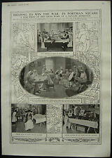 WWI Red Cross Working Centre 29 Portman Square London 1916 1 Page Photo Article
