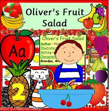 Oliver's FRUTTA INSALATA storia di risorse di insegnamento KS1 eyfs una sana alimentazione crescente CD