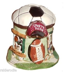 Blue Sky Clayworks Sports Dome Candle House Soccer Ball ~ 2003~2 pieces, signed