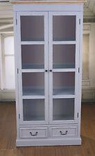 Ex-Display Elegant French Provincial Antique Grey Library Display Unit