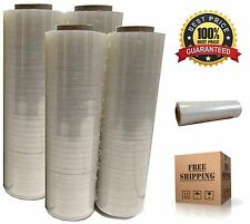 4x Plastic Shrink Stretch Clear Wrap Packing Film Pallet Rolls 18